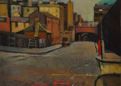 12.  Sydney Long's 'Argyle Street and Cut'.  1902, with road markings. 28.5 x 15 cm