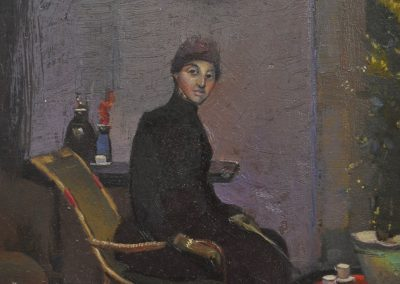 14.  Tom Roberts' 'Mrs L.A. Abrahams (Golda)'.  1888, with Yayoi Kusama's red dots. 25 x 29 cm