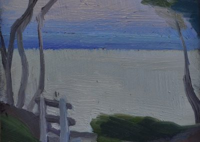 22. Clarice Beckett's 'Quiet Spot (The Empty Seat)'.  c. 1927. 14 x 11 cm