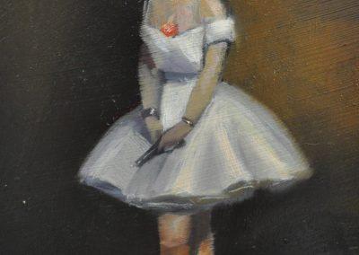 23.  Jean Beraud's 'La Danseuse'.  1873, with hand gun. 14.5 x 12.5 cm