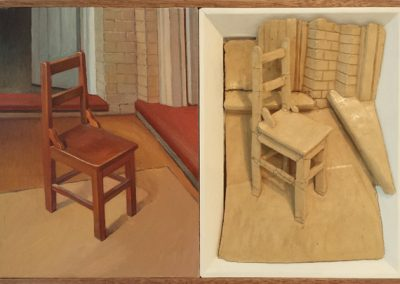 Chair Diptych 2014. 32 x 48 cm