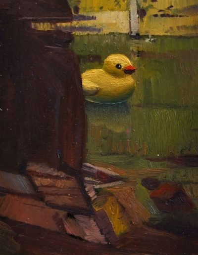 Arthur Streeton's 'Sydney Harbour'. 1895, with escaped Florentijn Hofman's rubber duck