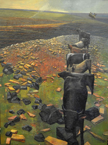 'Hunter Valley Landscape'. 200 x 150 cm
