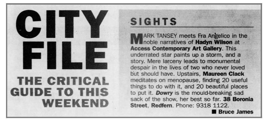 Sydney Morning Herald, 28 August 1999