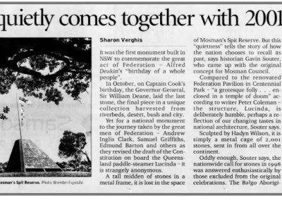 Sydney Morning Herald, 3 January 2001