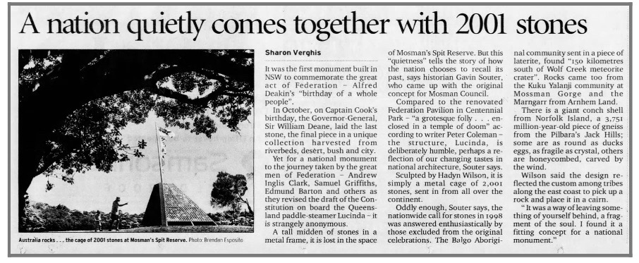 Sydney Morning Herald, 3 January 2001