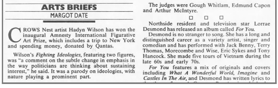 Sydney Morning Herald, 3 May 1990