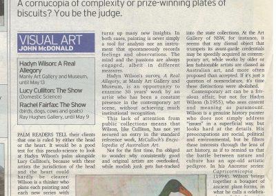 Sydney Morning Herald, Arts & Entertainment 21-22 April 2007