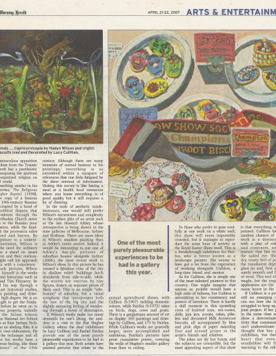 Sydney Morning Herald, Arts & Entertainment 21-22 April 2007