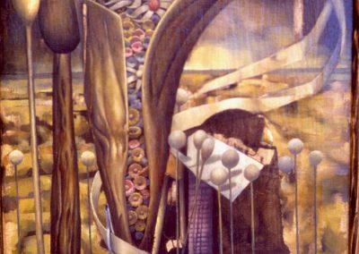 'A Lauasian Legacy', oil on canvas 1.0 x 1.6 m