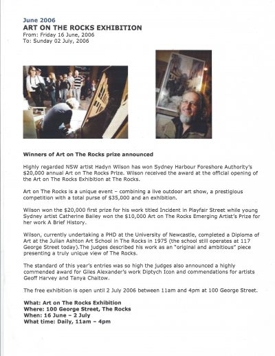 Art on The Rocks, June 2006