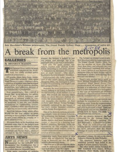Sydney Morning Herald, 8 January 1988