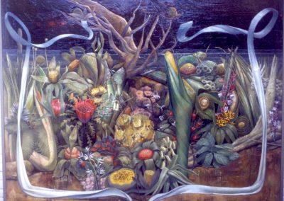 'Capricornacopia', oil on canvas 1.5 x 1.5 m