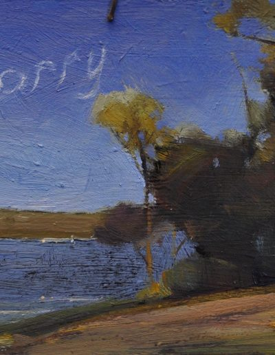 Tom Roberts' 'Landscape, Cremorne'.  1894, with 'Sorry'