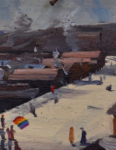 Arthur Streeton's 'Circular Quay'. 1892, with Marriage Equality Rally