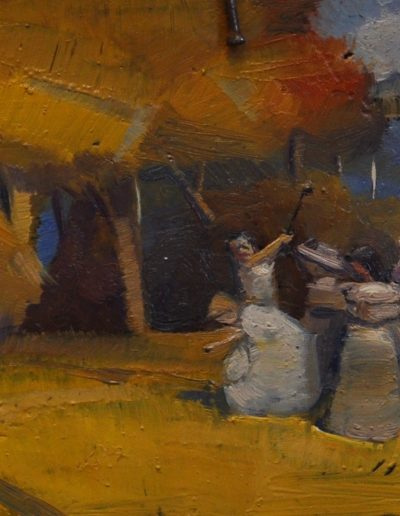 Tom Roberts' 'Australian pastoral'.  1904-5, reworked in 1931, with Selfies