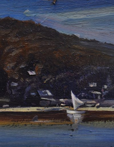 Tom Roberts', 'The Camp, Sirius Cove'.  1899, with bull shark