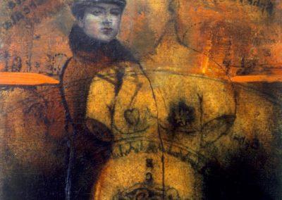 'Fludd's microcosmology', oil on canvas 70 x 70 cm