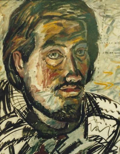 Self Portrait, oil and charcoal on paper. 50 x 60 cm, 1985