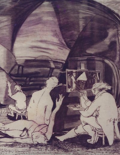 'Turner Working by the Sea', charcoal and collage on paper. 60 x 90 cm, 1985