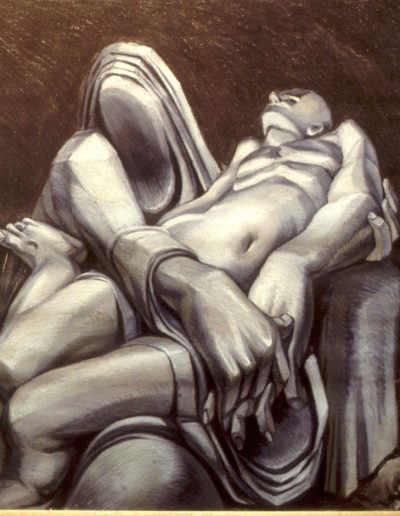 'My Pieta', oil stick on paper 80 x 80 cm