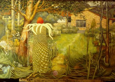 'The apperance of Clymeia Unulata at Narrabeen', oil on canvas 1.8 x 2.5 m