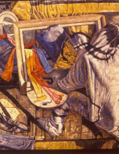 'Turner at Work', oil on canvas. 1.8 x 1.4 m, 1985