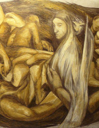 'Composition', oil stick on paper 1.7 x 1.3 m
