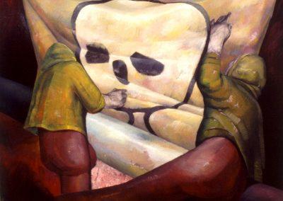 greenpeace series oil on canvas 1.4x1.4 1992