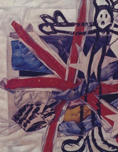 'Soldier and Flag', oil on canvas. 80 x 110 cm, 1985