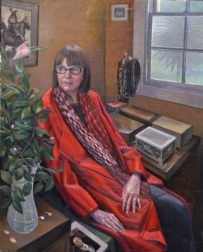 Doug Moran Portrait Prize 2015 - Semi Finalist - 'Frances Keevil with Red Coat'