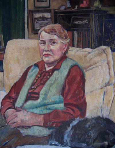 Portrait of Jessie Maze U.K. 1983. oil on board