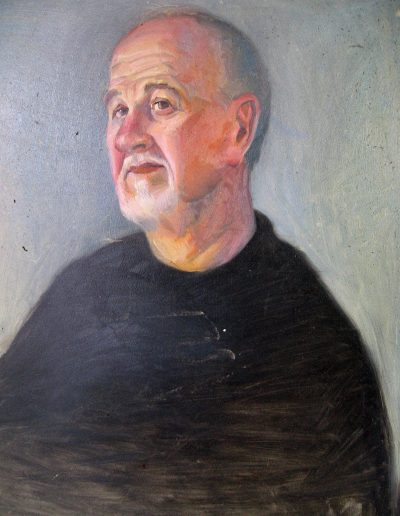 Study for portrait actor Simon Chilvers oil on board 2001