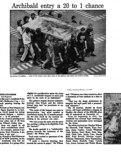 Sydney Morning Herald, 1 December 1990