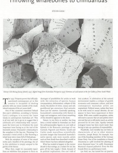 Art Monthly Australia, October 1997