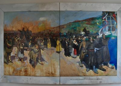 'The Religious procession' (after Repin) 2 x 3 m. Quote from John McDonald, Sydney Morning Herald, April 2007
