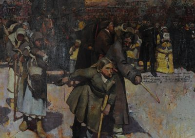 'The Religious procession' (after Repin) 2 x 3 m. Detail