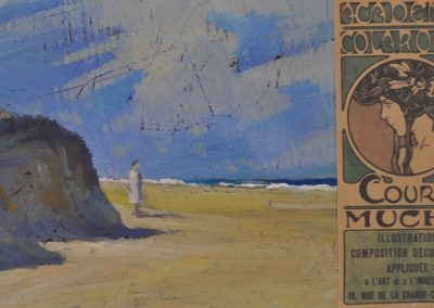 32. Vida Lahey's 'Burleigh Heads' c. 1933 'My first day at Académie Colarossi, Paris'. 12.5h x 20w cm. Oil on board