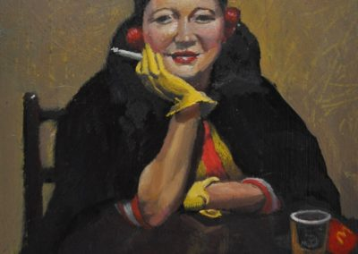 49. Esther Paterson's 'The Yellow Gloves (also known as Portrait of Betty Paterson, 1938