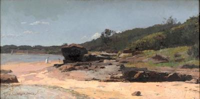 John Llewellyn Jones' 'Beach near Cheltenham, Victoria' 1896