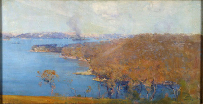 Arthur Streeton's 'Sydney from the Artist's Camp' (also known as 'Sydney Harbour from Sirius Cove') 1894