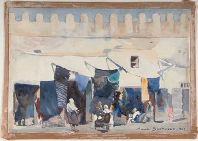 Maud Sherwood's 'The Dyers Shop, Kairanan, Algeria' 1928